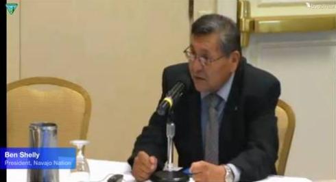 Navajo Nation President President, Ben Shelly