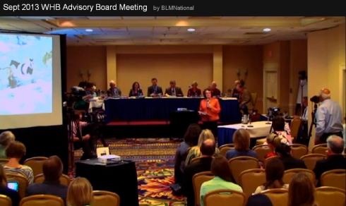BLM Wild Horse and Burro Advisory Board Washington, DC Sept 2013